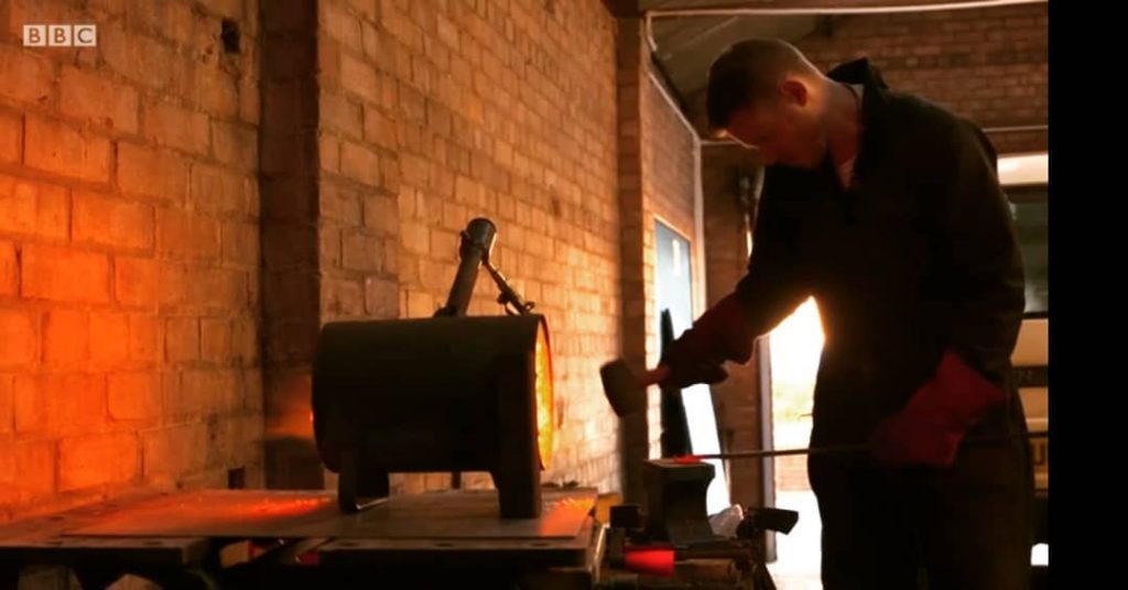 This is an image of Darren Witty, the blacksmith behind The Witty Smith.